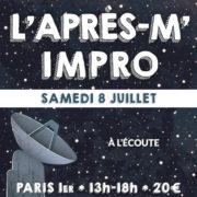 L'après-m' impro - Stage théâtre le samedi 8 juillet 2017