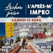 Deux ateliers théâtre le samedi 13 avril 2019 : une séance lâcher-prise confiance et prise de parole, une séance découverte de l'improvisation.